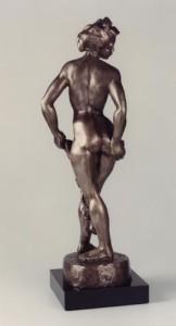 GIRL WITH GARLAND bronze, 30″ x 16″ x 20″