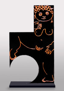 JOYOUS MOMENT welded steel and acrylic paint, 60″ x 29″ x 12″